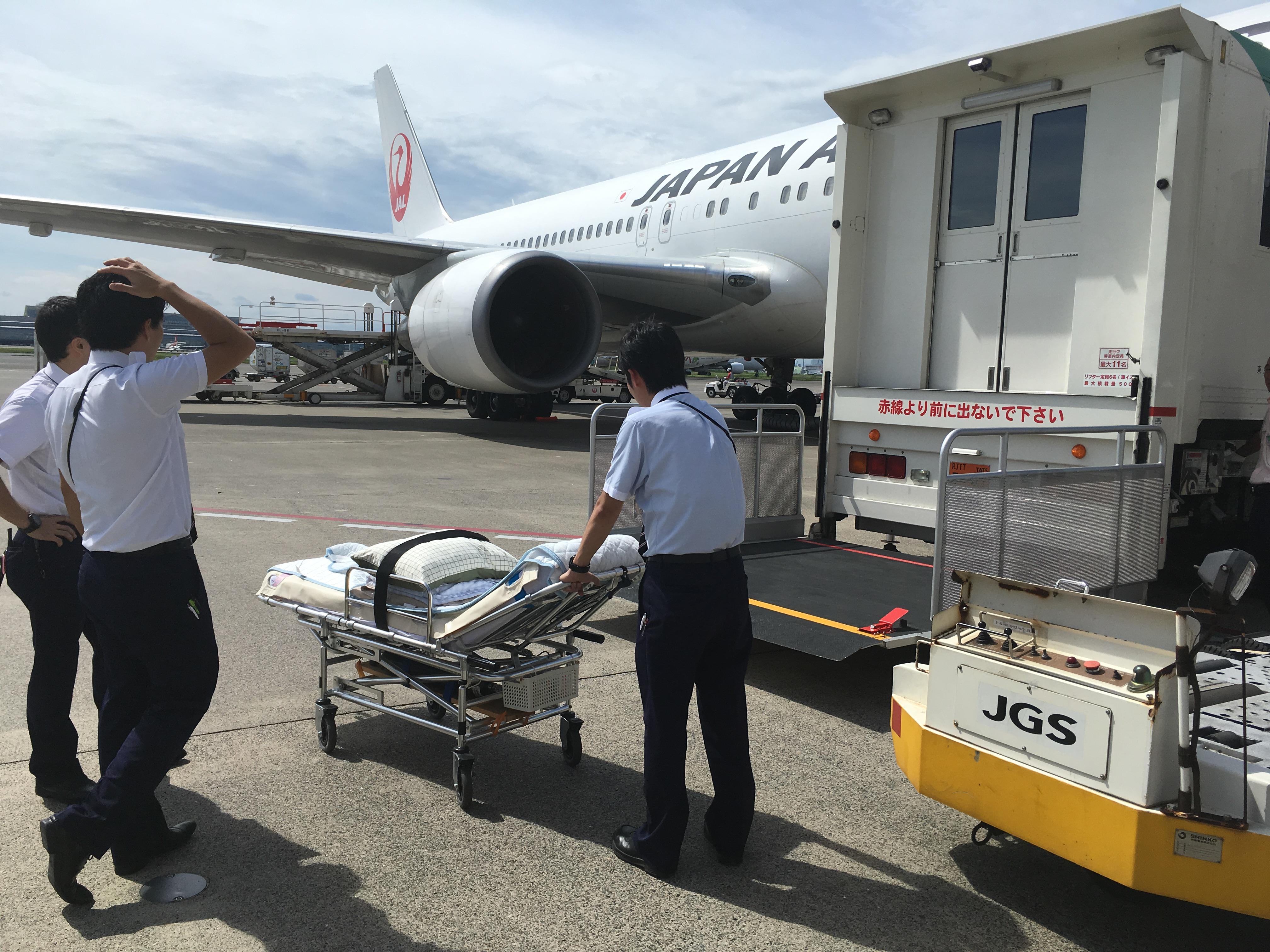 飛行機,航空機,患者搬送,移送