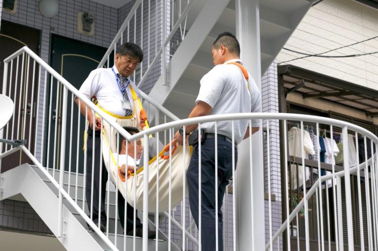 病人の階段上り下り